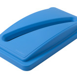 Blue slotted lid