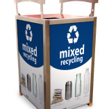 RAA Mixed Recycling on two panels