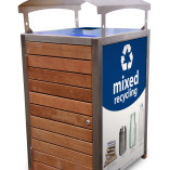 RAAMixed Recycling Blue Lid with Canopy